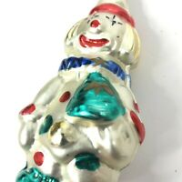 """Vintage Clown Glass Christmas Ornament Made in Germany Hand Painted Jester 4"""""""