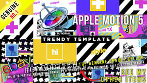 Apple Motion 5 - Trendy Template for Apple Motion 5