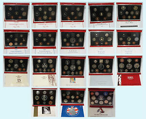 Royal Mint Deluxe Proof Coin Set COA 2004 2003 2002 1990-1999 1989 1988 1986