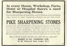 1926 Markt Pike Sharpening Stones Old Advert