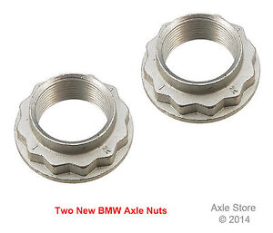 2 New Axle Spindle Nuts OEM Replacement Hex Star Style M27 x 1.5 Fit BMW
