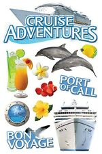 PAPER HOUSE CRUISE TROPICAL TRAVEL VACATION DIMENSIONAL 3D SCRAPBOOK STICKERS