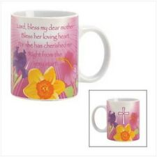 PRAYER FOR MOTHER Pink Floral Coffee Mug Cup Blessing Poem Mom Mothers Day Gift