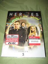 *RARE TARGET BONUS DISC* HEROES Third Season 3 DVD - Unmasked - FACTORY SEALED
