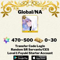 [English/Global/NA] Merlin Fate/Grand Order FGO Starter Account