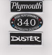 PLYMOUTH: DUSTER 340 SEW/IRON ON PATCH BADGE EMBLEM EMBROIDERED MOPAR HEMI CAR