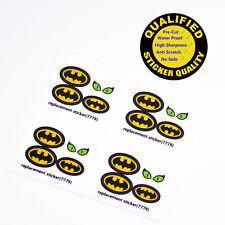 CUSTOM sticker for LEGO 7779, Batman logo etc, Premium quality sticker*4