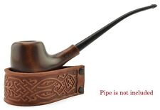 """NEW Leather Rack Stand Holder """"Leather ring mini"""" for 1 tobacco smoking Pipe"""