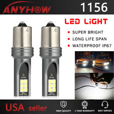 1156 LED Fog Light 2pcs Bulbs DRL Reverse Lights 6500K White Headlight Upgrade