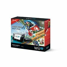 Nintendo Wii U 32GB Mario Kart 8 Deluxe Set Console Bundle Very Good 0Z