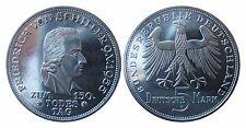 J389  5 DM Gedenkmünze Friedrich Schiller 1955 F in PP/EA  450046