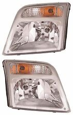 FITS FORD TRANSIT CONNECT 2010-2013 HEADLIGHTS HEAD LIGHTS FRONT LAMPS PAIR
