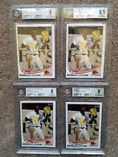 LOT (4) 2017 Florida Fire Frogs Ronald Acuna BGS 8 8.5 9 MINT Rookie Card RC