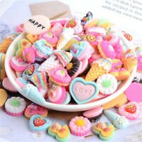 1-3cm Flat Back Cream Cake Resin DIY Art Craft Embellishments Decorations 20 pcs