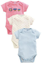 ВNWT NEXT Babygrows Playsuits • Blue Flower Bodysuits 3pk • 100% Cotton • 6-9mns