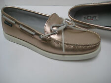 New EASTLAND YARMOUTH Ltd EDITION Light Bronze Metallic LEATHER BOAT SHOES ~ 9M