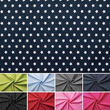 Estrellas - Tela 100% algodón - Estrellas blancas - 8 colores - Por metro