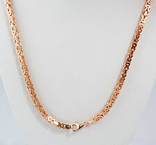 "59.50 gm 14k Solid Rose Gold Men's Women's Byzantine Chain Necklace 28"" 3.50 mm"