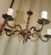 Elegant Antique French Renaissance Regency Bronze Brass Chandelier 5 Arm Light