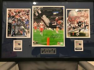 Rob Gronkowski Patriots Autographed Photo Collage w/engraved plate & team logos