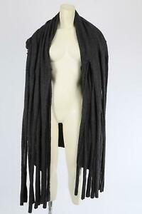 Collection Gray Wool Tassels Waterfall Cardigan Size M