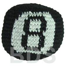 Eight Ball Black White Guatemalan Footbag 8 Ball Cotton Hacky Sack New HS20
