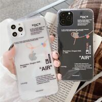 Phone Case Word Clear Letter Style For IPhone 12 Mini 11 Pro X Max 7 8 6 Plus