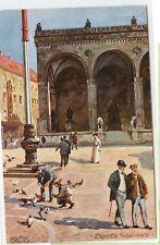 VINTAGE c1920 POSTCARD ~ ARTIST SIGNED ~ RICHARD WAGNER ~ MUNICH, GERMANY
