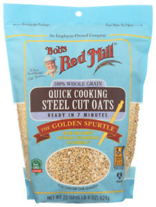 Bob's Red Mill  Quick Cooking Steel Cut Oats  (Pack of 4, 22 OZ)