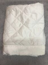 Hotel Collection Trousseau Cotton Quilted KING Pillow Sham White.