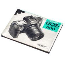 Canon EOS 600 manual de instrucciones