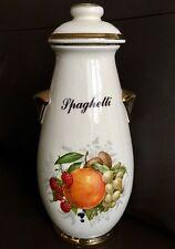 "Very Rare (1990s) KLM Staffordshire Pottery Hand Painted 13""/33cm Spaghetti Jar"