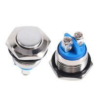 16mm Car Waterproof Momentary Metal Push Button ON OFF Horn Switch High Round