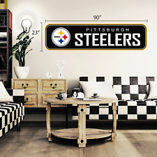 Pittsburgh Steelers 90x23 Team Repositional Wall Decal - Long Design