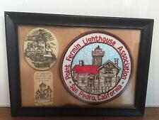 Point Fermin Lighthouse Medallion Plaque Patch Antique Maritime San Pedro Ca