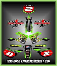 Kawasaki KX125-250 99-02  SEMI CUSTOM GRAPHICS KIT SPLITFIRE 1