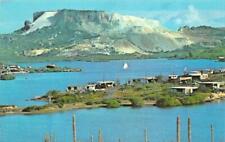 WILLEMSTAD, Curacao SPAANSE WATER Weekend Homes~Phosphate Mines  Chrome Postcard