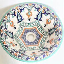 Moroccan Washbasin Wash Basin Sink Ceramic Hand Painted medium bathroom handmade