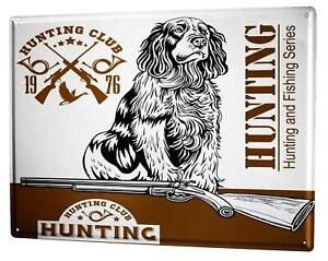 Tin Sign XXL Breed hound Dog