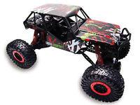 "RC Rock Crawler ""Crazy Crawler"" M 1:10 4WD proportionales Gas 41cm inkl Akku rot"