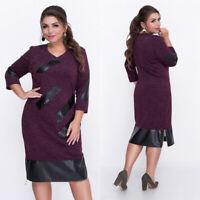 2019 New Women Plus Size fashion printing Casual Elegant Dress ZG9