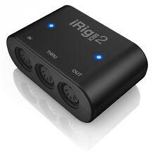 IK Multimedia iRig MIDI 2 MIDI Interface for IOS/Mac/PC w/ USB/Lightning