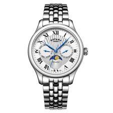 Rotary GB05065/01 da Uomo Timepieces Fase Lunare Argento Orologio Cronografo
