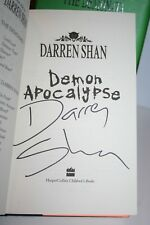 DARREN SHAN 4x Hardback Books 6 is SIGNED BY AUTHOR 2, 3, 4 THE DEMONATA Series