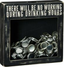 New listing Primitives by Kathy Cork/Cap Holder ~ There Will Be No Working During Drinking.
