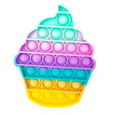 NEW Cupcake Popping Push Pop Bubbles It Game Sensory Stress Anxiety Fidget Toy