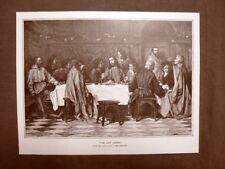 L'ultima cena Quadro di E. Von Gebhardt Stampa del 1888