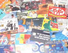 Lot x25 Télécarte Différentes Carte Téléphonique Collection Publicitée