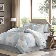 New! ~ Cozy Chic Blue Aqua Soft Grey Soft Comforter Sheets Bed In A Bag Set