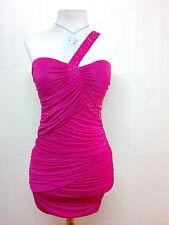 Vestido de fiesta mini Rosa S.C Fashion de un solo hombro Talla S